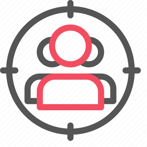 audience, market, marketing, seo, target, user icon