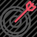 arrow, market, marketing, seo, target