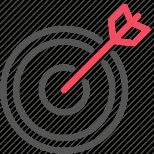 arrow, market, marketing, seo, target icon