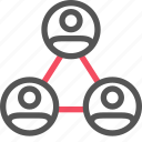audience, community, hierachy, seo, users icon