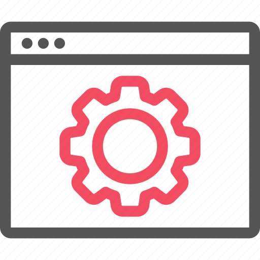 browser, gear, optimization, seo, setting, website icon