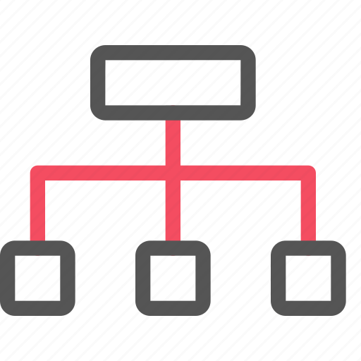 hierachy, organization, seo, sitemap, structure icon