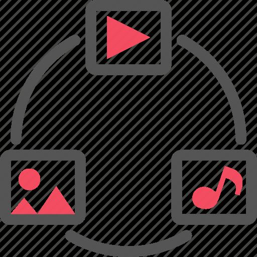 media, music, photo, seo, video icon