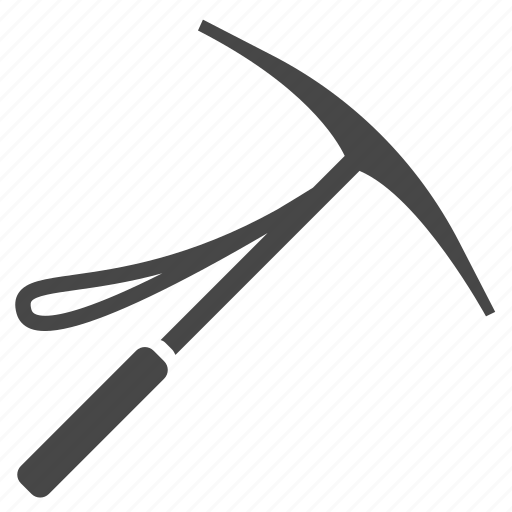 dig, equipment, gear, hiking, hoe, ice axe, tool icon