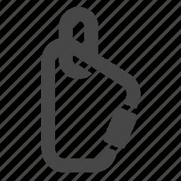 carabiner, equipment, gear, hiking, padlock, safty, tool icon