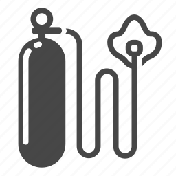 equipment, gas, health, hiking, medical, oxygen, tank icon