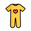 baby, crawler, crawlers, creeper, creepers, dress, kids icon