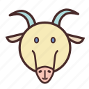 calendar, chinese, face, goat, new, year icon