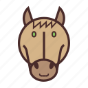 calendar, chinese, face, horse, new, year icon