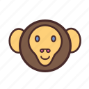 calendar, chinese, face, monkey, new, year icon