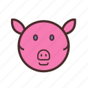 calendar, chinese, face, new, pig, year icon