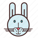 calendar, chinese, face, new, rabbit, year icon