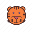 calendar, chinese, face, new, tiger, year icon