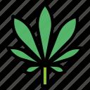 botanical, cannabis, leaf, weed icon