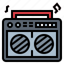 cassette, music, radio, speakers icon