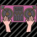 disc, jockey, audio, mixer, console