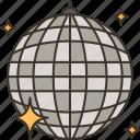 mirror, ball, disco, glitter, entertainment