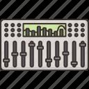mixer, audio, controller, sound, record