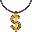 necklace, bling, gangster, fashion, chain