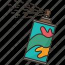 spray, paint, bottle, graffiti, color