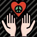 love, heart, hand, hippies, peace