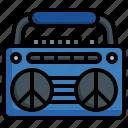 radio, cassette, tape, music, peace
