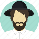 hipster, man, person icon