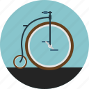 bicycle, circus, classic, penny-farthing, ride, transport, wheels icon