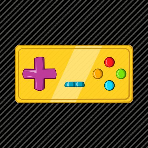 cartoon, console, controller, electronic, game, joystick, retro icon