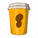 cappuccino, cartoon, coffee, cup, drink, espresso, hot icon