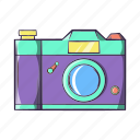 camera, cartoon, lens, photo, photography, retro, technology icon