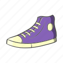 cartoon, hipster, retro, shoe, shoelace, sneaker, vintage icon