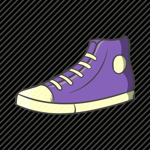 cartoon, hipster, retro, shoe, shoelace, sneaker, vintage icon