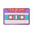 audio, cartoon, cassette, music, retro, stereo, tape icon
