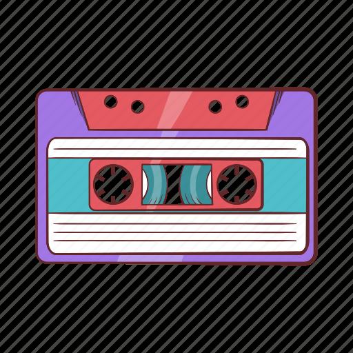 audio, cartoon, cassette, music, retro, stereo, tape icon