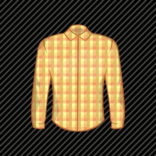 cartoon, checkered, cloth, kilt, plaid, shirt, textile icon