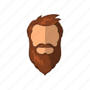 beard, cartoon, character, fashion, hipster, male, man icon