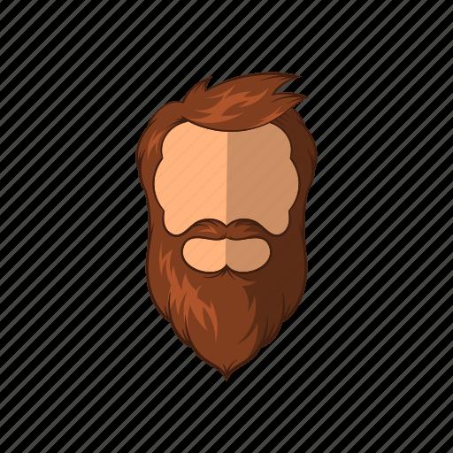 beard, cartoon, character, fashion, hipster, male, man icon