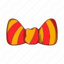 bow, cartoon, fashion, male, men, strip, tie icon