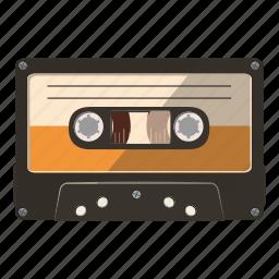 aged, audio, cartoonor, cassette, copy, logo, recorder icon