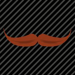 cartoon, curl, face, logo, moustache, mustache, old icon