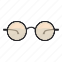 cartoon, eye, fashion, glasses, logo, modern, wear icon