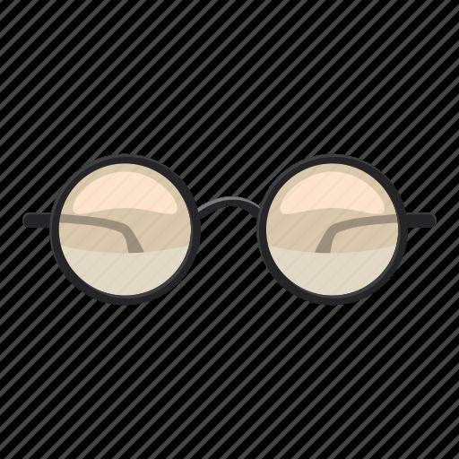 cartoon, eye, fashion, glasses, logo, modern, wear icon