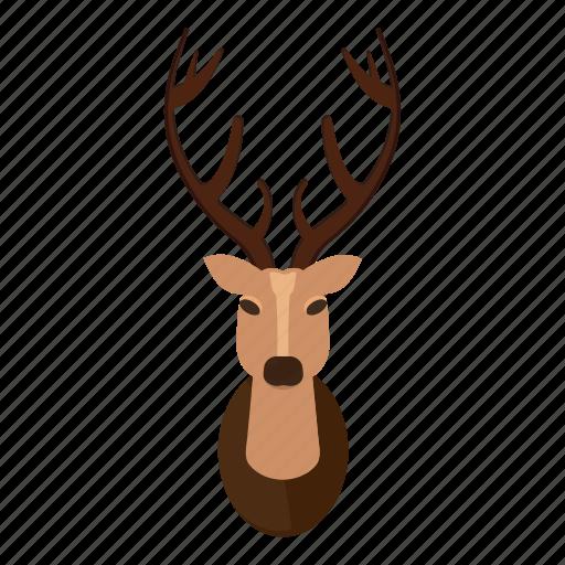 hipster items cartoon by ivan ryabokon rh iconfinder com cartoon deer head clip art cartoon deer head silhouette