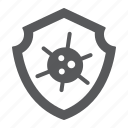 coronavirus, covid-19, hiv, immune, protection, shield, virus icon