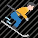 downhill, extreme, ski, skiing, snow, sport, winter