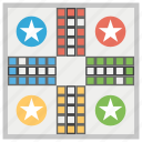 board game, family game, hobby interest, indoor games, leisure activity, ludo icon