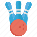 arcade game, bowling, bowling pin, game, tenpin icon