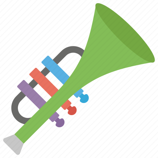 french horn, jazz music, musical instrument, trombone, trumpet, wind instrument icon
