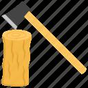 deforestation, furniture wood, lumber, trees cutting, woodcutting icon